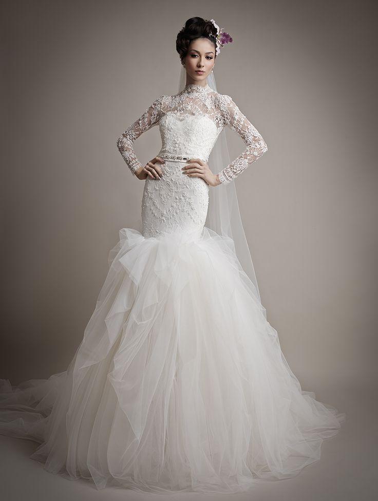 Modest wedding dresses magazine : Modest long sleeve wedding dress weddings bridal