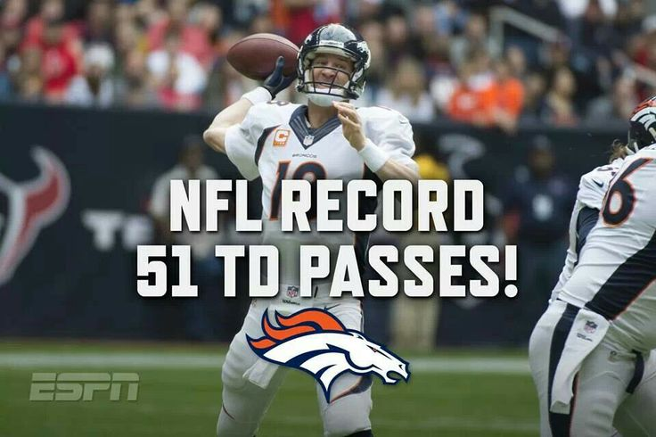 Payton Manning beats Tom Brady's record for Passes.