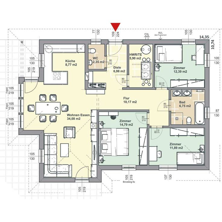 277 best Hausgrundriss images on Pinterest Bungalow, Flooring and - plan maison 170 m2 plain pied