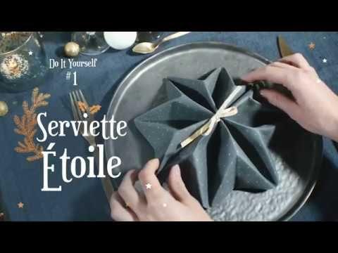 DIY : Pliage Serviette étoile
