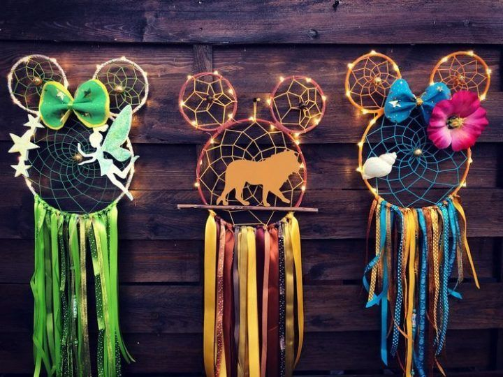 Mickey Mouse Dreamcatcher #disney #craft #disneycraft #diy #craft #disney
