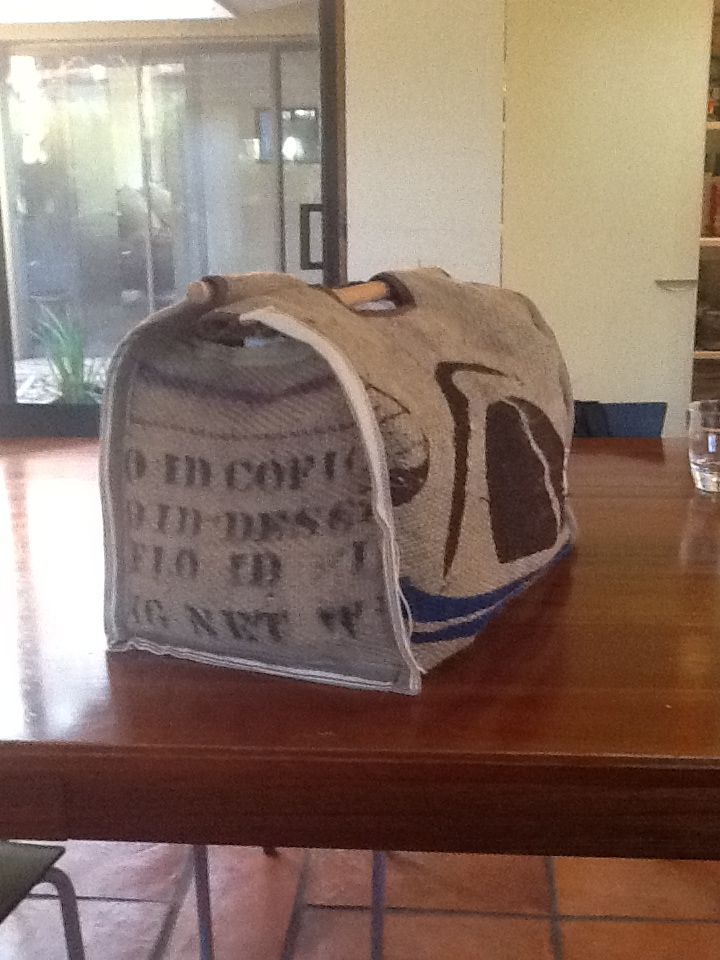 Brewer Bag no2:   Made with coffee bag.
