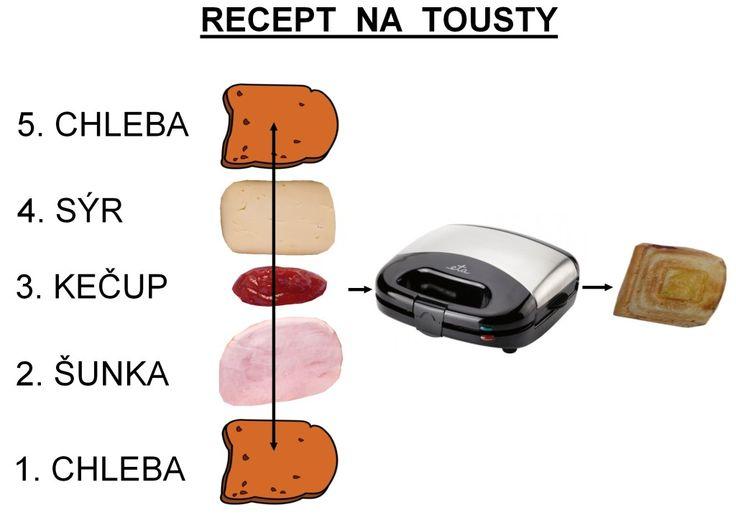 obrázkový recept na tousty