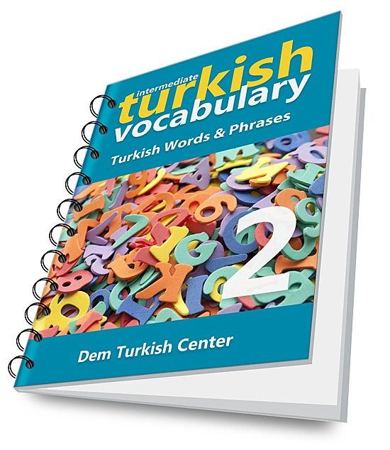 Learn Turkish language words and phrases through easy and useful exercises!  Intermediate Turkish Vocabulary Developer can be used for self-study or a supplementary material for your intermediate Turkish language course. The book includes word lists with English equivalents.  Intermediate Turkish Vo