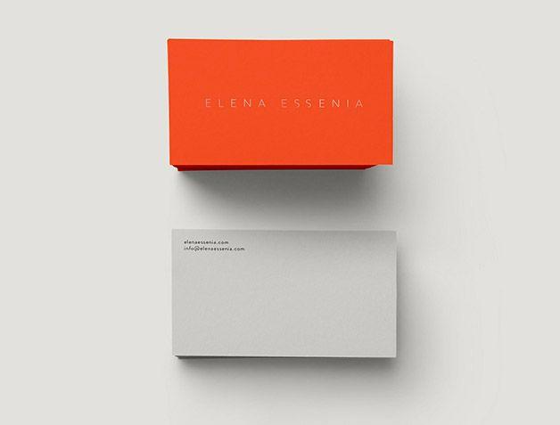 ultra minimalist business card