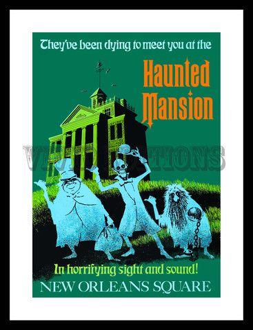 DISNEYLAND HAUNTED MANSION POSTER - VividEditions.com