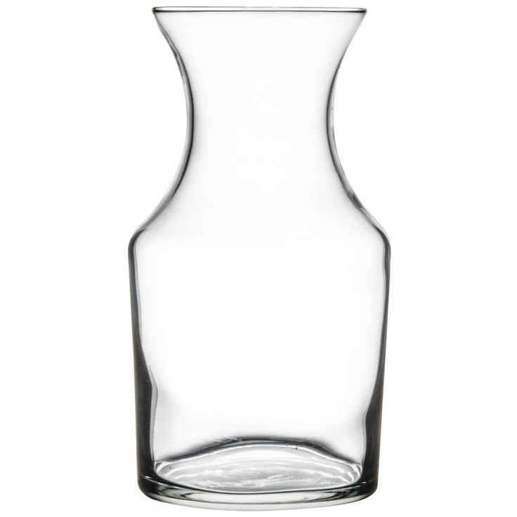 Thanks to its timeless design, this Libbey 719 8.5 oz. glass cocktail decanter heightens the elegant presentation of your traditional beverage service. Whether you're serving fine wines or creative cocktails, this carafe fits the bill! With its flared shape, it's also great for holding small flower arrangements on your countertops or at your romantic tables for two. Its chip-resistant rim helps ensure reliability by providing support at the weakest point of the glass. This also result...