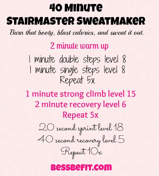 Screen 40 min stairmaster workout Bess Be Fit