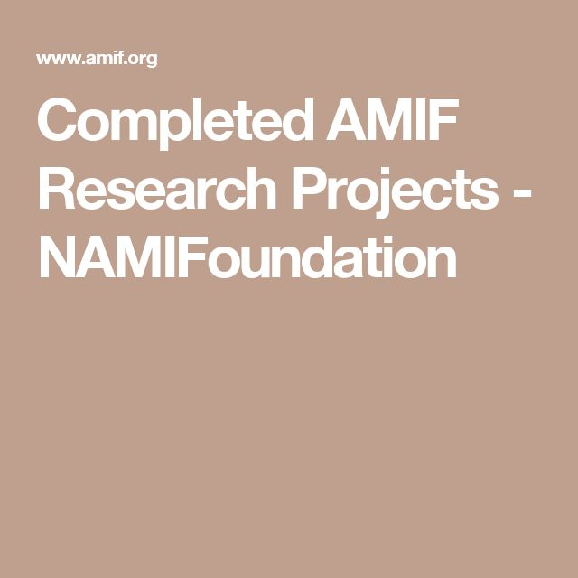 Completed AMIF Research Projects - NAMIFoundation