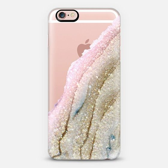 pink and gold agate iPhone case