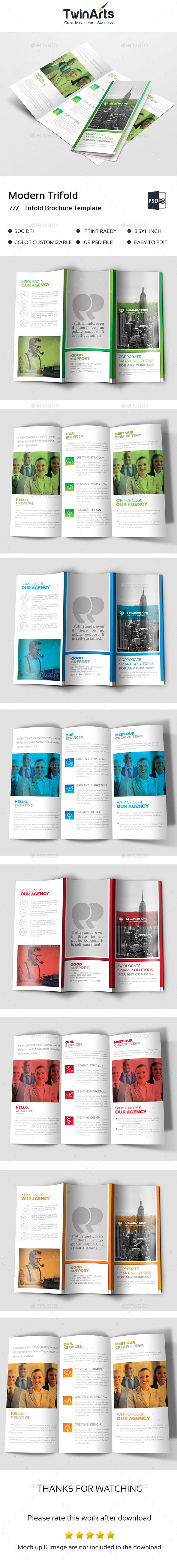 Trifold Brochure Template PSD