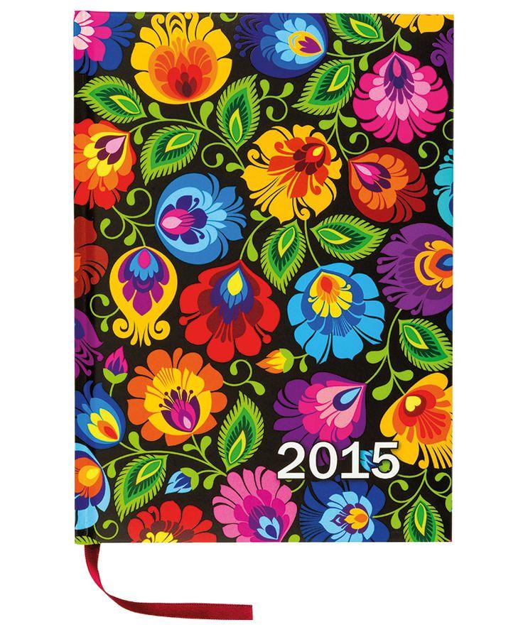 Folk kalendarz książkowy 2015 rok - łowickie motywy ludowe