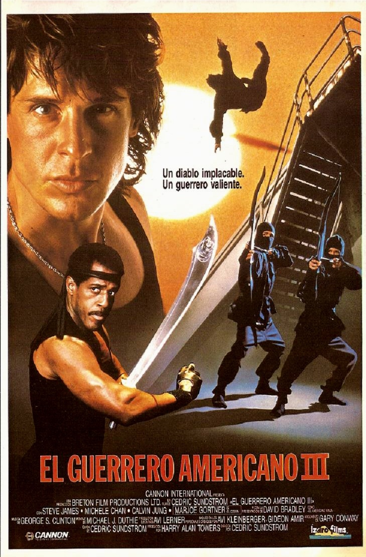 1989 - El guerrero americano III - American Ninja 3: Blood Hunt: Steve James, Ninja Movies, Adventure Movies, 80 S Movie, Ninjas Girl, Movie Posters Cover, Blood Hunt
