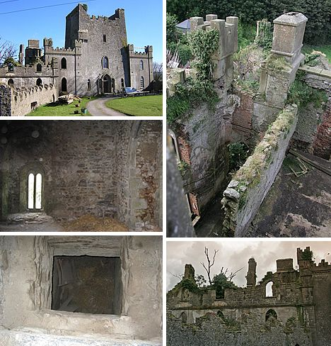 Leap Castle, Ireland  -has a bloody past dating back to the 14th century and is known as Ireland's most haunted castle  -a plethora of ghostly activity has been reported here including a dark entity who smells like rotting flesh