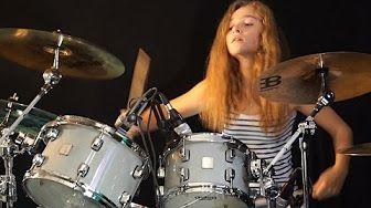 Suzanne Morissette Wedding Dress Drum Solo - YouTube