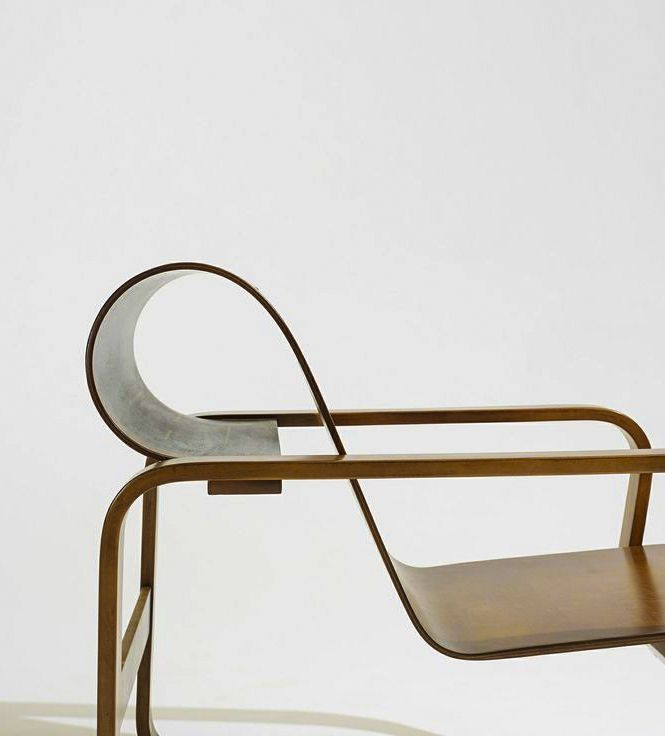 ALVAR AALTO, Paimio lounge chair, Artek Finland, 1932 / c. 1950. Beech plywood, birch. Wright Scandinavian Design, 16 May 2013. / Wright