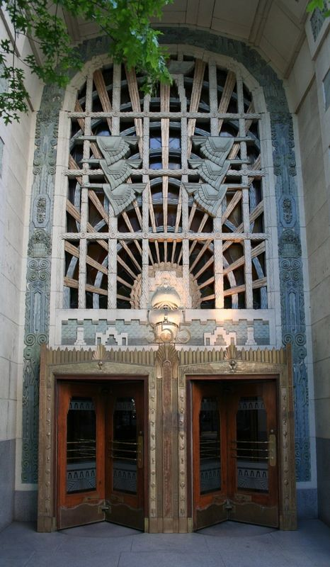 Marine building in vancouver canada art deco style completed in