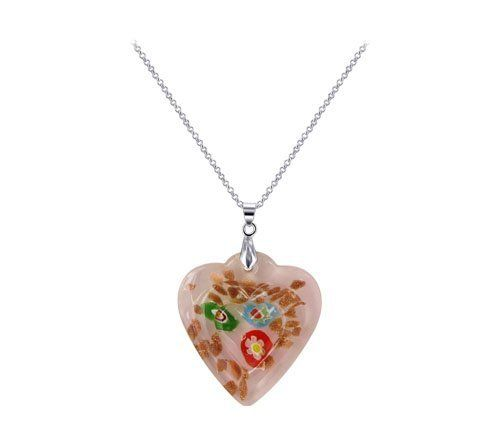 Stainless Steel Bail with 45mm x 40mm Pink Quartz Color Floral Designed 5mm Thick Heart Pendant Gem Avenue. $4.99. Pink Color Heart Glass Pendant. 5mm Thick. 45 x 40mm Heart Pendant. Floral Designed. Gem Avenue SKU # SAPS041. Save 64%!