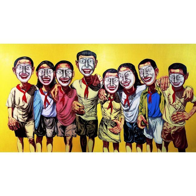 Zeng Fanzhi_Mask Series No.6_1996. Collection privée © Zeng Fanzhi studio