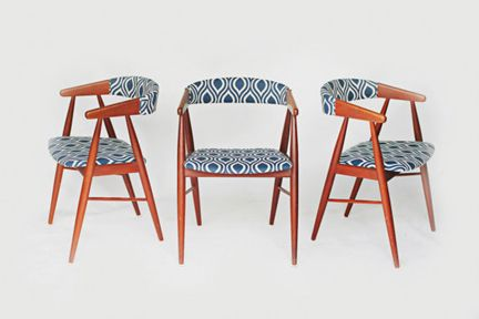 16 Best Images About Reupholstered Mid Century Modern Dining Chairs On Pinter