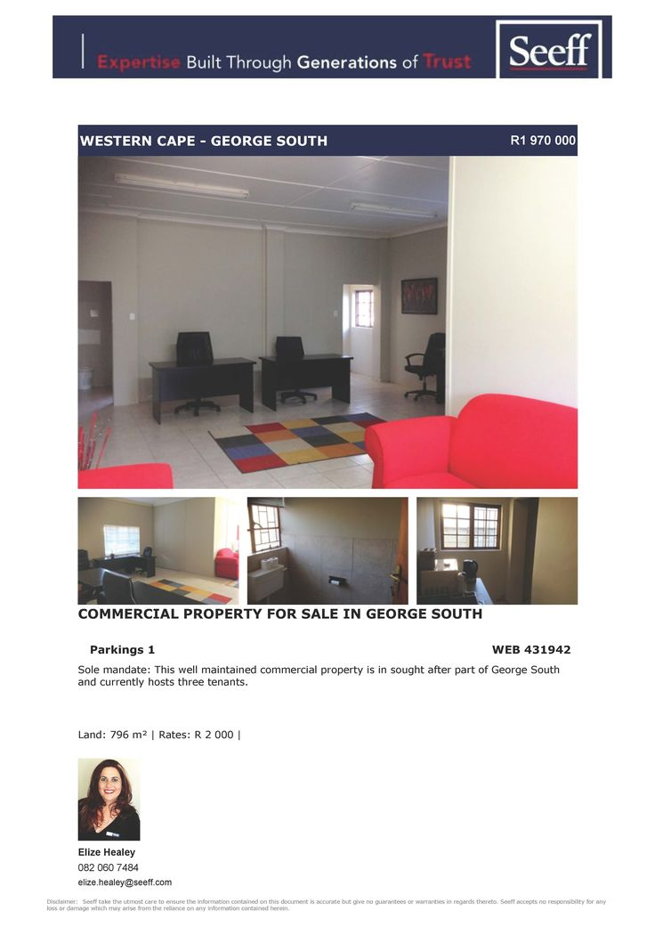 #seeff #newlisting #commercial #georgesouth #forsale #property #george #gardenroute #westerncape  Commercial Property for sale in George South www.seeff.com/Details?webref=431942  Elize Healey 082 0607 484