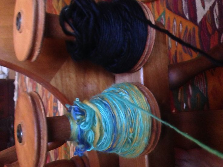 Plying that lovely natural merino together