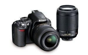 Nikon D3100 14.2MP Digital SLR Camera with 18-55mm VR, 55-200mm VR DX Zoom Lenses and 3-Inch LCD Screen (Black)