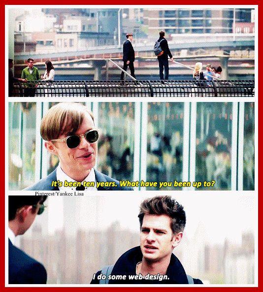 Peter Parker - Andrew Garfield and Dane DeHaan - Harry Osborn - The Amazing Spider-Man 2 -