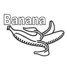 Banana Coloring Pages Miakenasnet