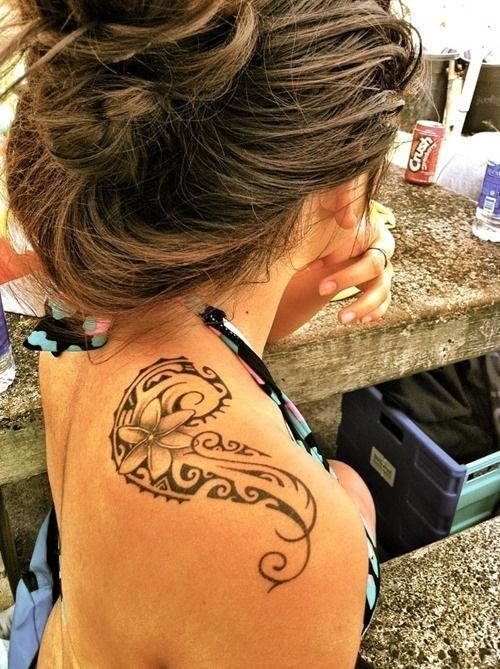 Polynesian Shoulder Tribal Tattoo