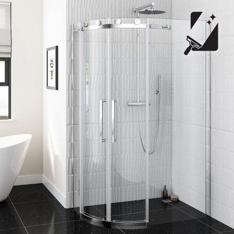 8mm - Luxe Frameless EasyClean Quadrant Shower Enclosure