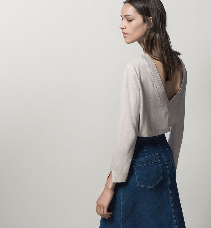 SWEATER WITH V-BACK - View all - Sweaters & Cardigans - WOMEN - Sweden - Massimo Dutti