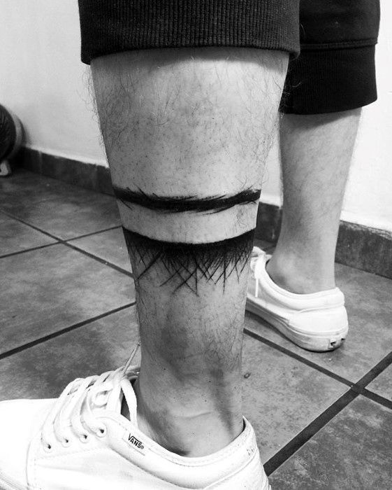 40 Leg Band Tattoo Designs For Men – Masculine Ink Ideas – #Band #Designs #forme…