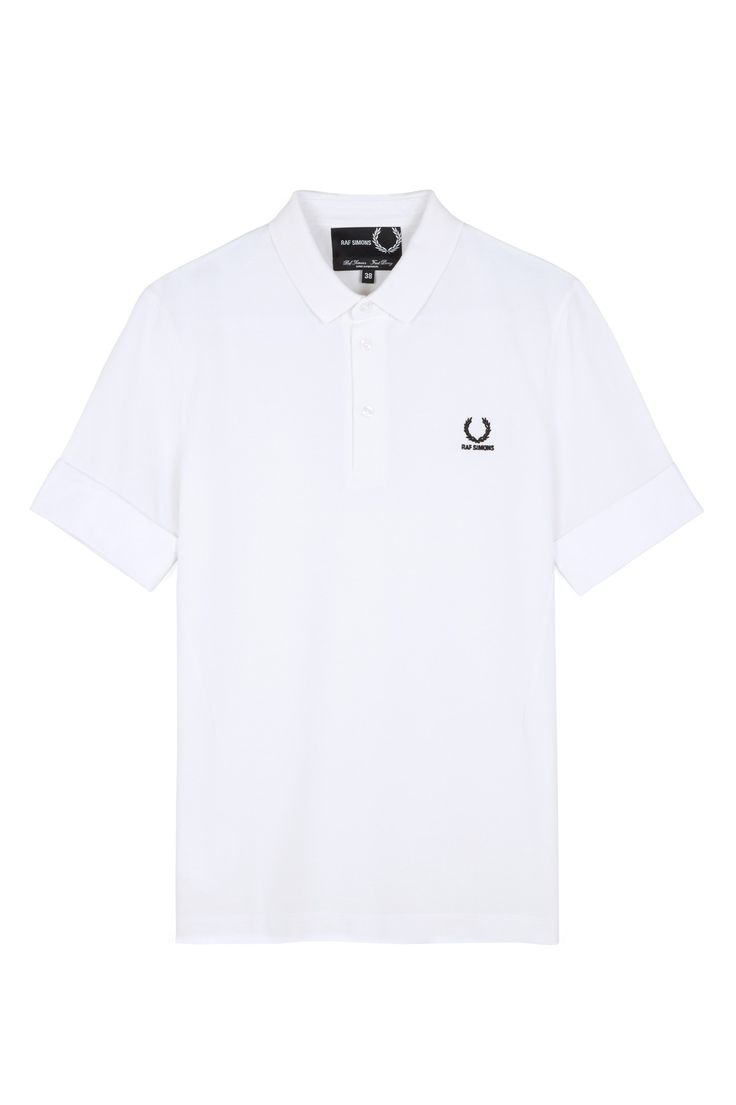 Fred Perry - Raf Simons Denim Cuff Piqué Shirt White