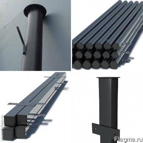 Столбы металлические готовые к установке цена, фото, где купить Иваново