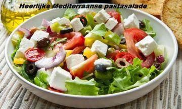 heerlijke mediterraanse pastasalade
