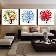 Hermosa decoración cuadros de árboles