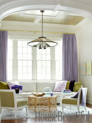 Bold lavender, chartreuse, and aqua make a happy color combination. Design: Pat Healing