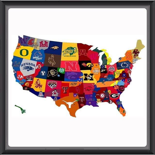 Best College Football Images On Pinterest Football - Us map of college football teams