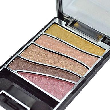 5 couleurs de la palette ombre à paupières avec une brosse libre (2 #) - EUR € 4.94