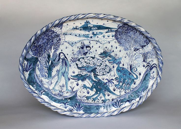 Lake of Faces Platter by Canadian artist Lindsay Montgomery 2015