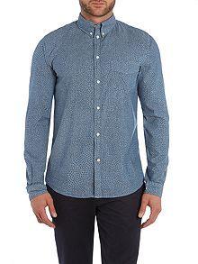 Tailored Fit Chambray Mosaic Shirt
