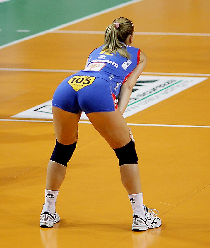 Girl hot girls playing volleyball asian