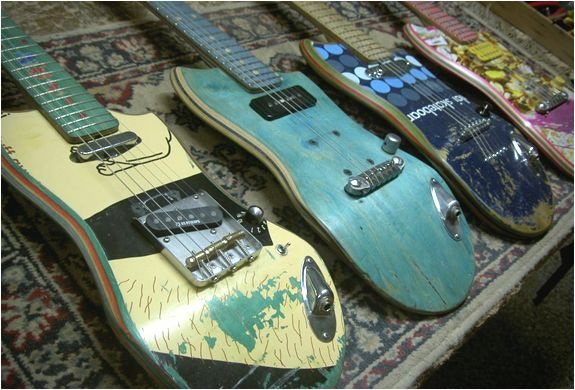 Amazing Skateboard Guitars