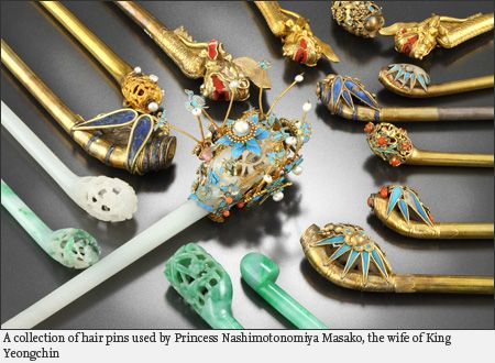 Hair pins--Royal Attire of Last Crown Prince on Display