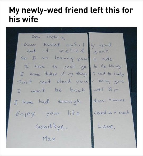 """#1Both lawyers from divorcing couple are sitting there going """"We get $350 an hour for Court time"""".via Reddit#2 Wife made an apologizing cake for her husband.#3 A bird photo which describes precisely of an ordinary couple.#4 Another funny text message between wife and..."""