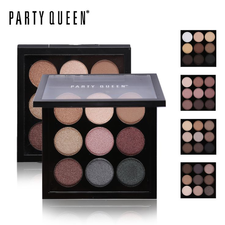 Party Queen New 9 Artist Shadow Palette Shimmer Matte Pigment Earth Color Eye Shadow Kit Naked Makeup Smooth Glitter Eyeshadow ** This is an AliExpress affiliate pin.  Details on product can be viewed on AliExpress website by clicking the VISIT button
