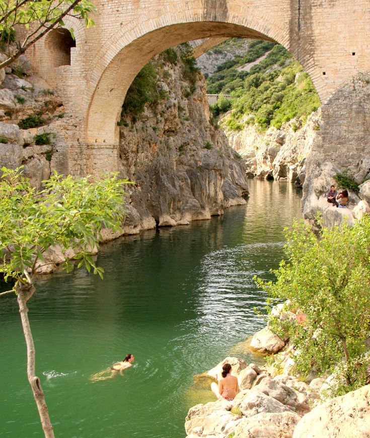Wild Swimming in France -Pont Du Diable, Languedoc