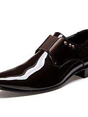 MasculinoConforto Inovador Sapatos formais-Salto Baixo-Preto Marrom-Couro Envernizado Courino-Escritório & Trabalho Casual Festas & Noite