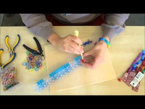 ▶ How to Make a Beaded #RainbowLoom Bracelet using #BeadGallery beads available at @Michael Dussert Sullivan Stores by @Molly Simon Simon Schaller